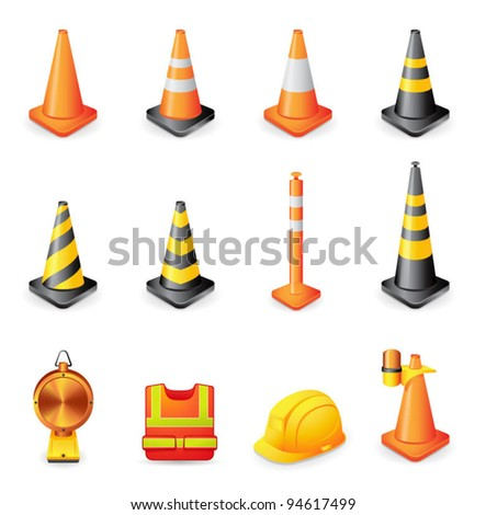 Web Icons - Traffic Warning Sign - stock vector