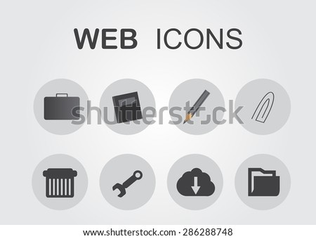 Web icons.Vector illustration.