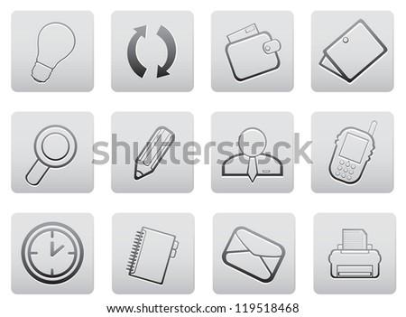 Web icons. Vector set for you design - stock vector