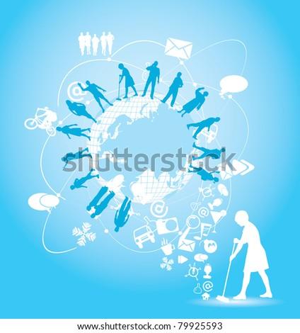 Web illustration concept - stock vector