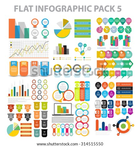 Web Infographic element pack 6. vector - stock vector