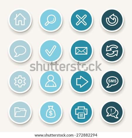 Web & internet icons set - stock vector