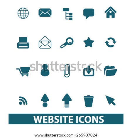 web, internet icons, signs, illustrations design concept set for appliciation, website, vector on white background - stock vector