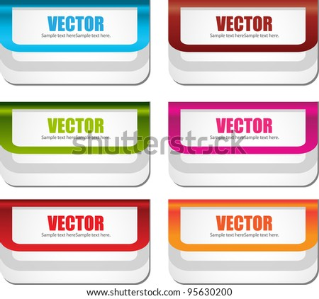web labels or banners