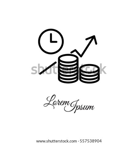 Web line icon. Business idea; The increase in profits (profitable investment)