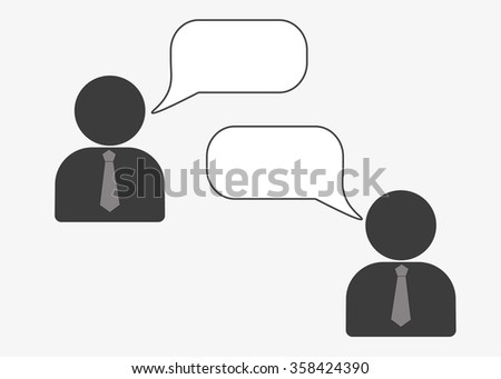 Web line icon. Business, Negotiations, dialog - stock vector