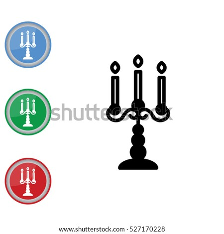 Web line icon. Candlestick.