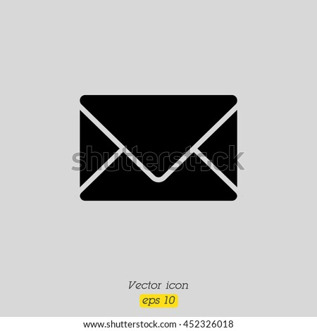 Web line icon. Message, closed envelope - stock vector