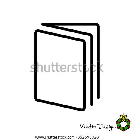 Web line icon. Open book - stock vector