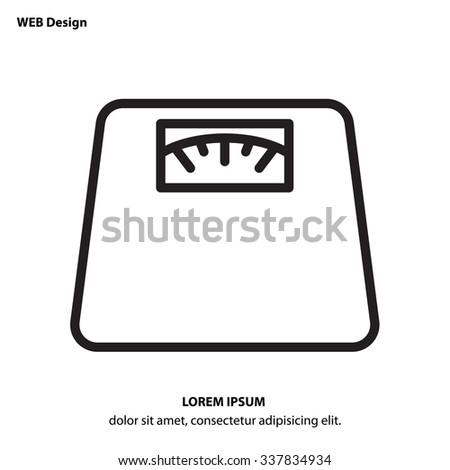 Web line icon. Scales. - stock vector