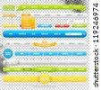 Web Menu Element Templates. Buttons, menus, ribbons. - stock vector