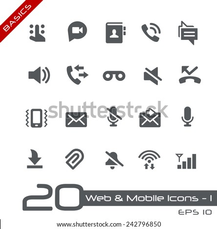 Web & Mobile Icons - 1 // Basics - stock vector