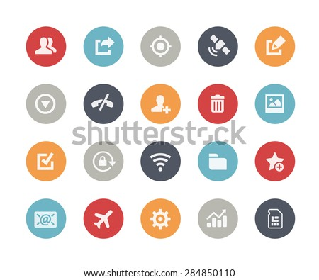 Web & Mobile Icons - 2 // Classics Series - stock vector