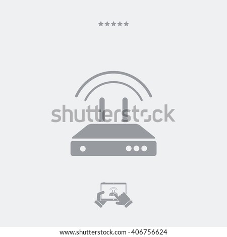 Web modem - Single isolated icon - stock vector
