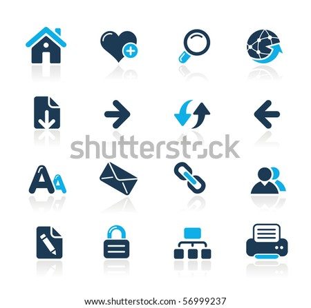 Web Navigation // Azure Series - stock vector