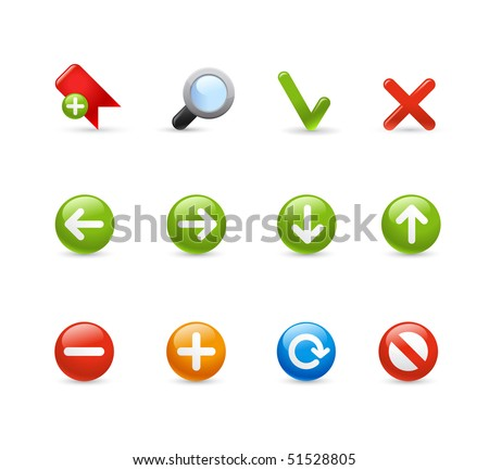 Web Navigation // Gel Icon Series - stock vector