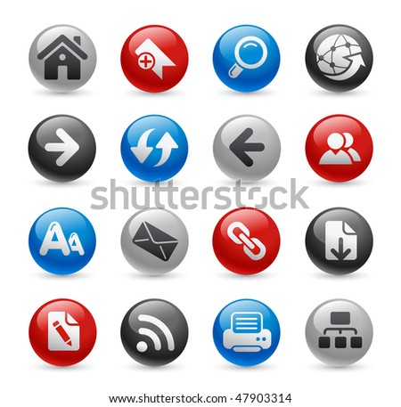 Web Navigation Icons // Gel Pro Series - stock vector