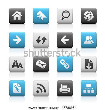 Web Navigation Icons // Matte Series - stock vector