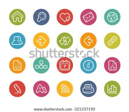 Web Navigation Icons // Printemps Series - stock vector