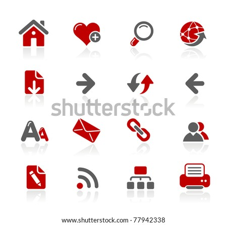 Web Navigation Icons // Redico Series - stock vector