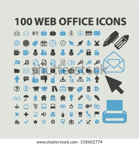 web office icons - stock vector