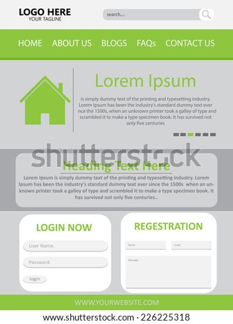 Web Page Design Vector Template