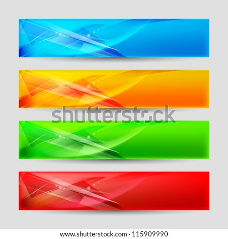 Web Panels Form an Abstract Background. - stock vector