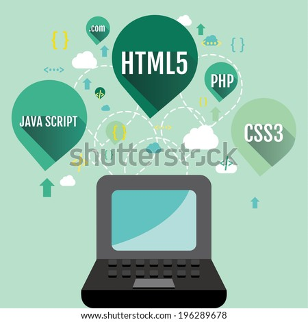 Web programming concept - stock vector