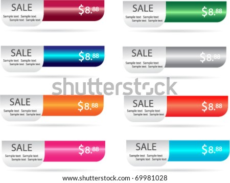 web sale banner or labels - stock vector