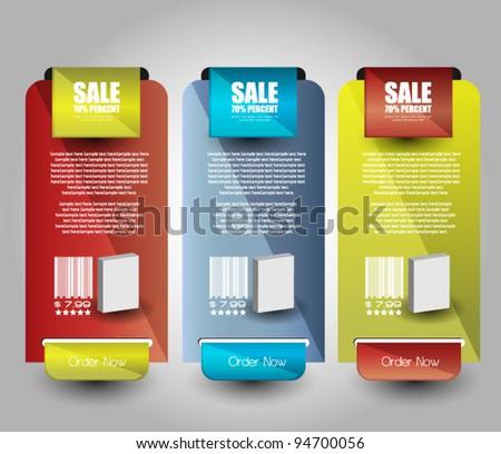 web sale banner set - stock vector