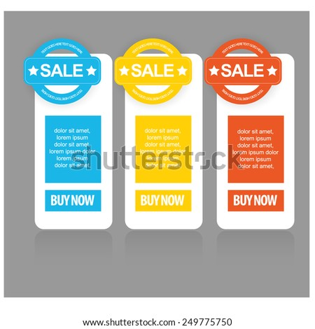 web sale banner set. vector - stock vector