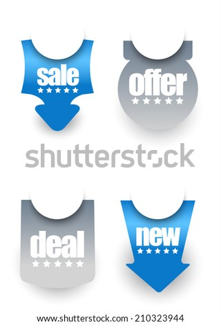 web sale sticker and badges
