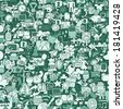 Web seamless pattern (repeated) with mini doodle drawings (icons). Illustration is in eps8 vector mode. - stock vector