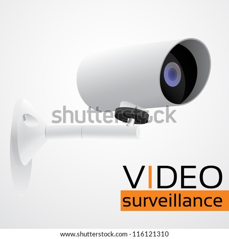 Web Security Camera, CCTV - stock vector