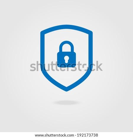 Web security icon shield.  - stock vector