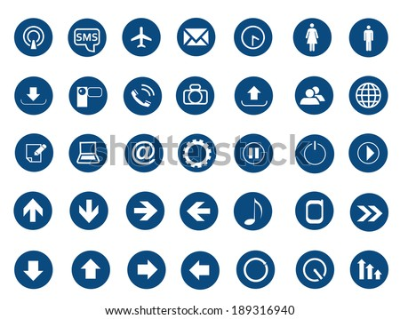 Web set of icons