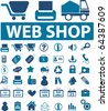 web shop signs. vector - stock vector