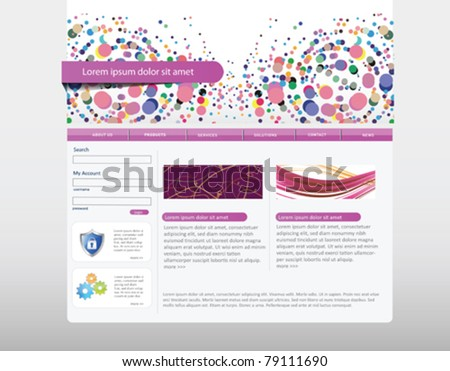 Web site design - stock vector