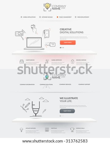 Web site design template navigation elements stock vector 313762583 web site design template navigation elements set of two front pages of website with personal ccuart Gallery