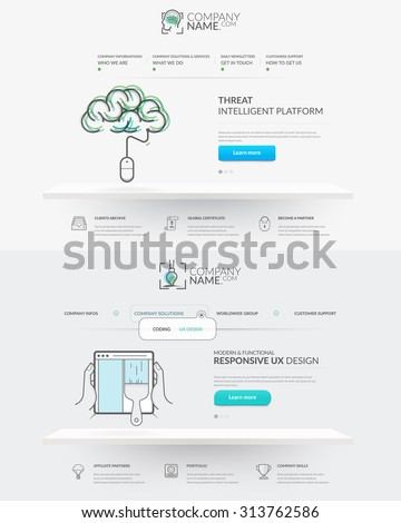 Web site design template navigation elements stock vector 313762586 web site design template navigation elements set of two front pages of website with personal ccuart Images