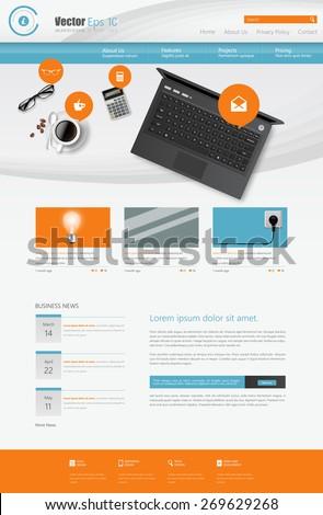 Web site design template, vector. - stock vector