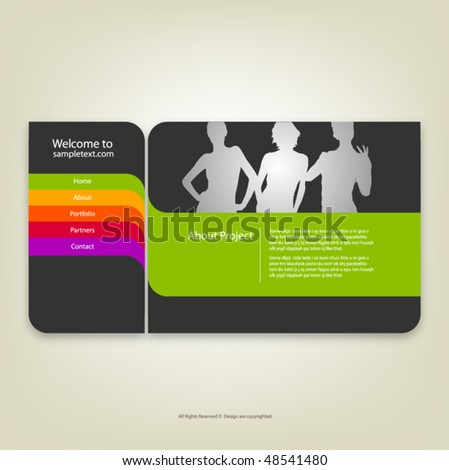 Web site design template, vector. - stock vector