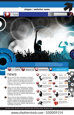 Youth website templates stock images royalty free images web site design template vector illustration pronofoot35fo Gallery