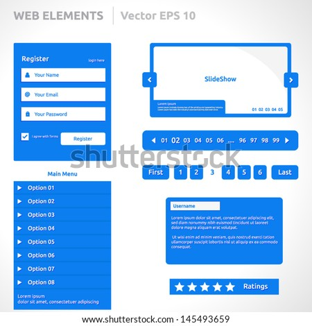 colorful web set of search bar for website mobile app vectors