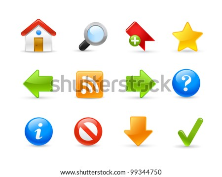 Web Site Icons / Gel Series - stock vector