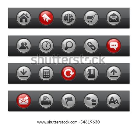Web Site & Internet // Button Bar Series - stock vector