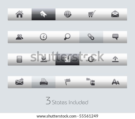 Web Site & Internet // Classic Series +++ It includes 3 buttons states in different layers. +++ - stock vector