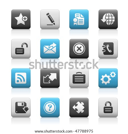 Web Site & Internet Icons // Matte Series - stock vector