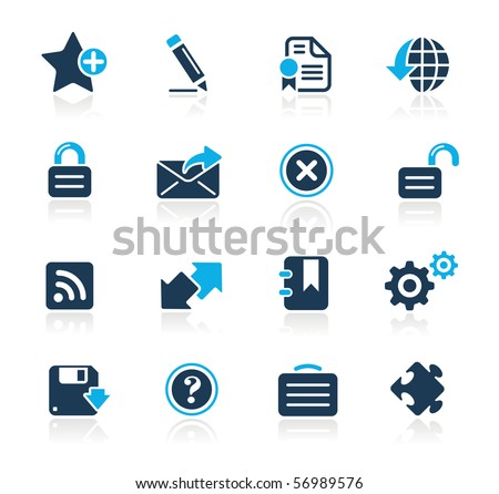 Web Site & Internet Plus // Azure Series - stock vector