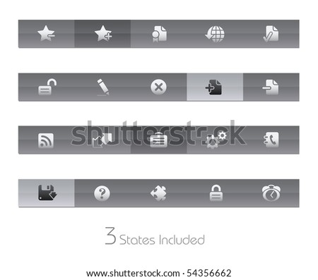 Web Site & Internet Plus // Gelbar Series  +++ It includes 3 buttons states in different layers.  +++ - stock vector